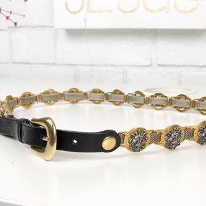 Vintage Versace Estro Versa Lions Head Belt Size M